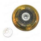 Колесо для роликовых коньков  72мм  с подшипниками  светящееся (1 шт)